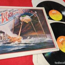 Discos de vinilo: THE WAR OF THE WORLDS JEFF WAYNE 'S MUSICAL VERSION BSO OST MUSICAL 2LP 1978 CBS ENGLAND UK GATEFOLD. Lote 210771392