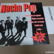 Discos de vinilo: NACHA POP (MAXI) UNA DECIMA DE SEGUNDO (5 TRACKS) AÑO – 1984 – HOJA PROMOCIONAL. Lote 210772269