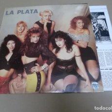 Discos de vinilo: LA PLATA (LP) LA PLATA AÑO – 1990 – HOJAS CON RESUMEN BIOGRAFICO. Lote 210777469
