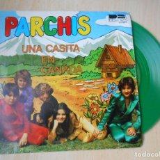 Discos de vinilo: PARCHÍS, SG, UNA CASITA EN CANADÁ + 1, AÑO 1980. Lote 210787161