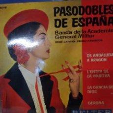 Discos de vinilo: PASODOBLE DE ESPAÑA BANDA DE LA ACADEMIA GENERAL MILITAR. Lote 210789407