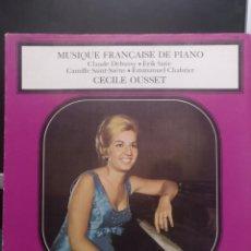 Discos de vinilo: MUSIQUE FRANÇAISE DE PIANO. DECCA. Lote 210794835