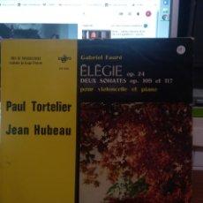 Discos de vinilo: FAURÉ ELEGIE. Lote 210795496