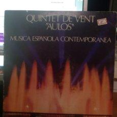 """Discos de vinilo: QUINTET DE VENT """"AULOS"""". Lote 210796654"""