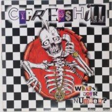 """Discos de vinilo: CYPRESS HILL - WHAT'S YOUR NUMBER? [US HIP HOP / RAP EXCLUSIVO ORIGINAL][ MX 12"""" 33RPM ][2004]. Lote 210796906"""
