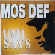 "Discos de vinilo: MOS DEF - UMI SAYS [US HIP HOP / RAP EXCLUSIVO ORIGINAL] RAWKUS [MX 12"" 33RPM ][2000]. Lote 225011638"