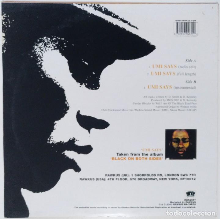 "Discos de vinilo: MOS DEF - UMI SAYS [US HIP HOP / RAP EXCLUSIVO ORIGINAL] RAWKUS [MX 12"" 33RPM ][2000] - Foto 2 - 225011638"