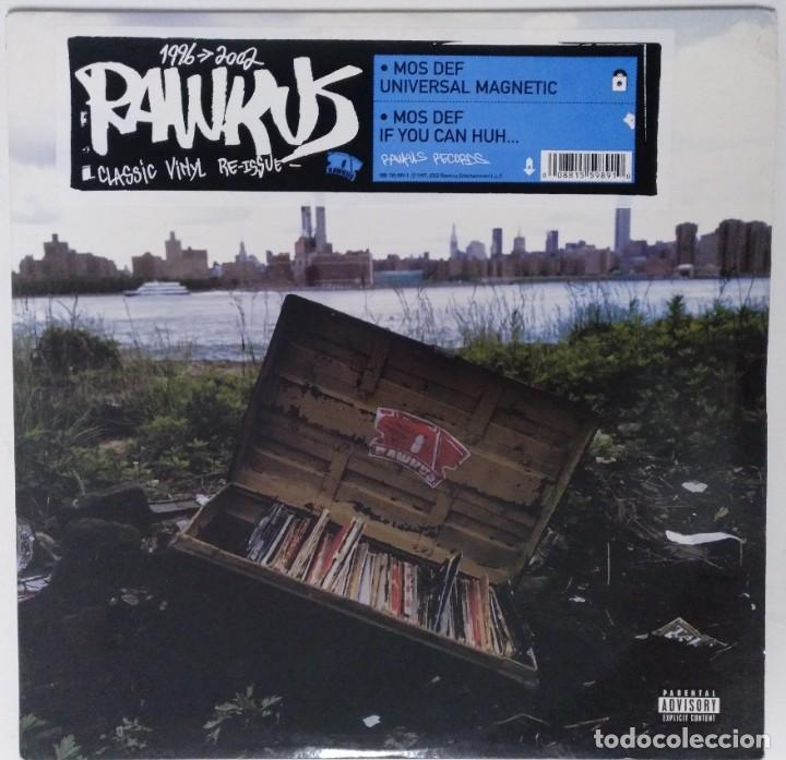 """MOS DEF - UNIVERSAL MAGNETIC [US HIP HOP / RAP EXCLUSIVO ORIGINAL] RAWKUS [MX 12"""" 33RPM ][2002] (Música - Discos de Vinilo - Maxi Singles - Rap / Hip Hop)"""