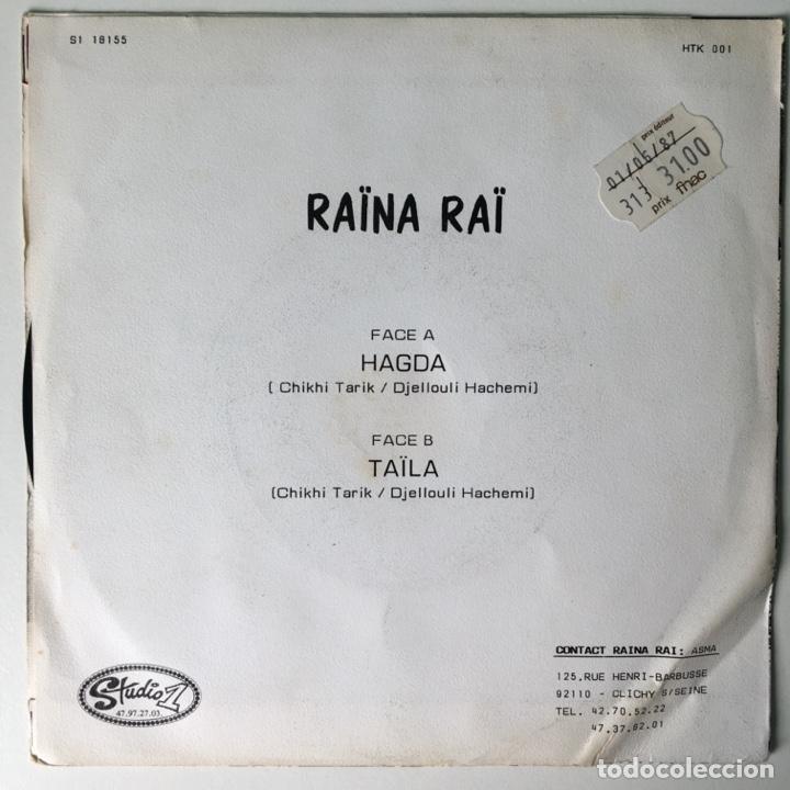 Discos de vinilo: Raïna Raï – Hagda / Taïla, S1 18155, France Studio 1 - Foto 2 - 210799497