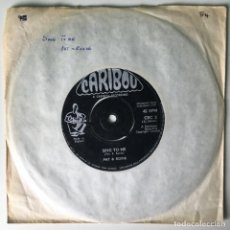 Discos de vinilo: PAT & ROXIE – SING TO ME / THINGS I USED TO DO, CRC 2 UK 1958 CARIBOU. Lote 210799544