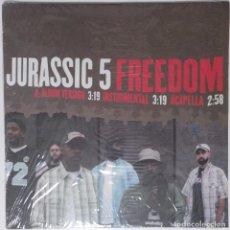 "Discos de vinilo: JURASSIC 5 - FREEDOM [US HIP HOP / RAP EXCLUSIVO ORIGINAL][MX 12"" 33RPM ][2003]. Lote 210799760"