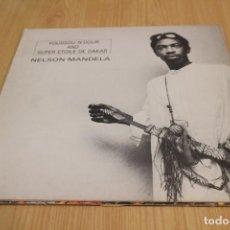 Discos de vinilo: YOUSSOU N'DOUR AND SUPER ETOILE DE DAKAR - NELSON MANDELA - NUEVOS MEDIOS 43 293 L - 1986. Lote 210799902