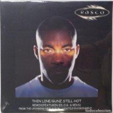 "Discos de vinilo: RASCO - (NUEVO SIN ABRIR) THIN LINE / GUNZ STILL HO [US HIP HOP / RAP ORIGINAL][MX 12"" 33RPM ][2001]. Lote 210799970"