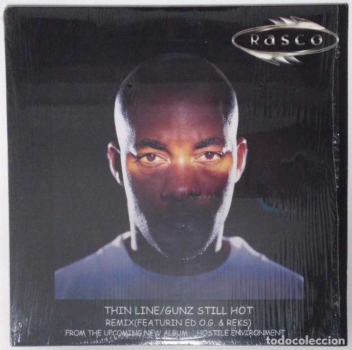 "RASCO - THIN LINE / GUNZ STILL HOT [ US HIP HOP / RAP EDICIÓN EXCLUSIVA] [MX 12"" 45RPM] [[2001]] (Música - Discos de Vinilo - Maxi Singles - Rap / Hip Hop)"