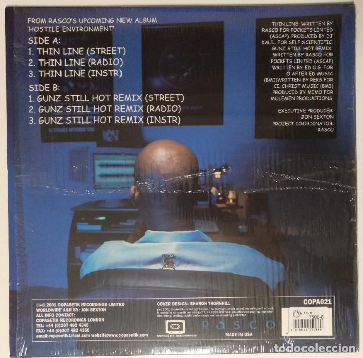 """Discos de vinilo: RASCO - THIN LINE / GUNZ STILL HOT [ US HIP HOP / RAP EDICIÓN EXCLUSIVA] [MX 12"""" 45RPM] [[2001]] - Foto 2 - 210799982"""