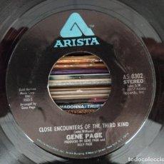 "Discos de vinilo: GENE PAGE - CLOSE ENCOUNTERS OF THE THIRD KIND (7"") (ARISTA) AS 0302 (USA ED.) (D:NM). Lote 210803897"