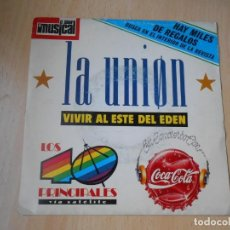 Discos de vinilo: UNION, LA, SG, VIVIR AL ESTE DEL EDÉN + 1, AÑO 1989 PROMO. Lote 210809219