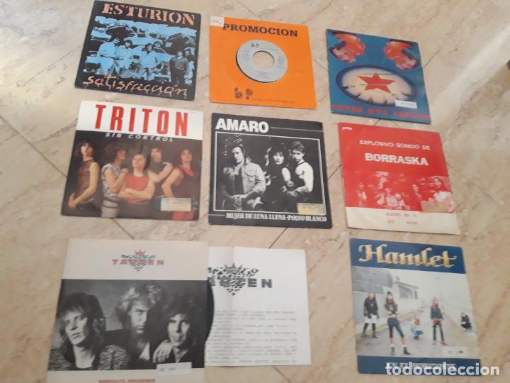 GRUPOS-HEAVY ESPAÑOL- OCHO SINGLES-SPARTO,TRITON,TARZEN,HAMLET,ESTURION,FORCE,AMARO,BORRASKA, (Música - Discos - Singles Vinilo - Heavy - Metal)