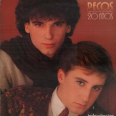 Discos de vinilo: PECOS - 20 AÑOS - LP DE 1981 RF-8047 , BUEN ESTADO. Lote 210813114