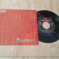 Discos de vinilo: BARRICADA / ROJO / TIEMPOS QUE ARDEN / SINGLE 1988 MERCURY. Lote 210820481