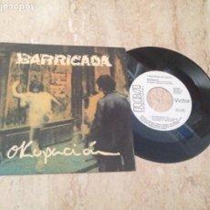 Discos de vinilo: BARRICADA- OKUPACION / A PECHO DESCUBIERTO / RCA-PROMOCIONAL-1986-. Lote 210820739