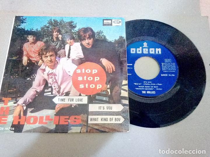 T-92.-DISCO EP.- THE HOLLIES.- STOP, STOP, STOP, Y 3 CANCIONES MAS, ODEON.- 1966.- (Música - Discos de Vinilo - EPs - Pop - Rock Extranjero de los 70)