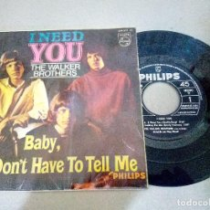 Discos de vinilo: T-93.- DISCO.- EP.- THE WALKER BROTHERS,-- I NED YOU-- Y 3 CANCIONES MAS .- PHILIPS 1966. Lote 210821707