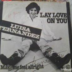 Discos de vinilo: LUISA FERNANDEZ - LAY LOVE YOU + 1 (WARNER, 1977) - RARA EDICIÓN CREEMOS QUE INGLESA. Lote 210821722