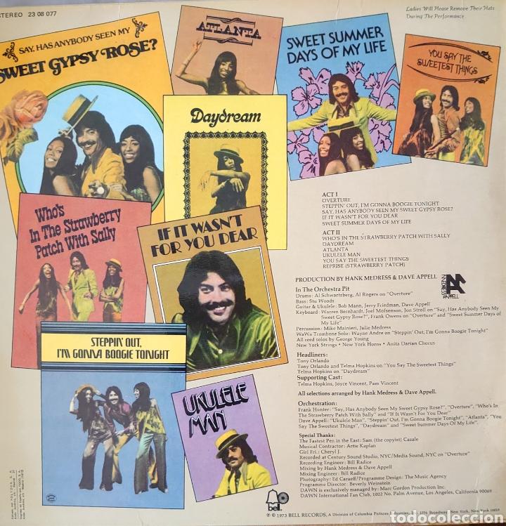 Discos de vinilo: Dawns / Tony Orlando Lp sello Bell editado en España año 1973 - Foto 2 - 210822782