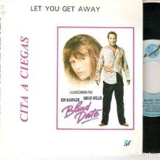 "Discos de vinilo: BILLY VERA AND THE BEATERS 7"" SPAIN 45 BLIND DATE CITA A CIEGAS SINGLE VINILO 1987 KIM BASINGER BSO. Lote 210823025"