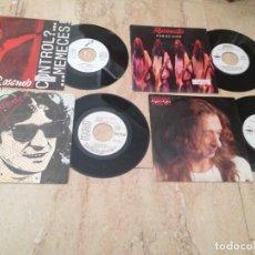 Discos de vinilo: ROSENDO-CUATRO SINGLES-PAN DE HIGO / CARA A CARA / JUGAR AL AGUA / CONTROL? /. Lote 210823297