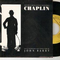 """Discos de vinilo: JOHN BARRY 7"""" SPAIN 45 CHAPLIN SMILE SINGLE VINILO 1993 PROMOCIONAL 1 CARA MUY BUEN ESTADO ! BSO VER. Lote 210823790"""
