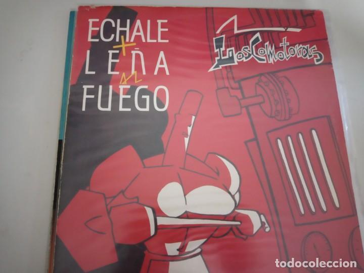 Discos de vinilo: LOSCOMOTORAS - ECHALE MAS LEÑA AL FUEGO - Foto 2 - 210825671