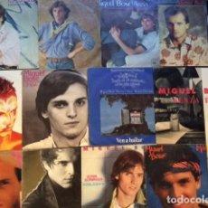 Discos de vinilo: LOTE DE 12 SINGLES DE MIGUEL BOSE EN EXCELENTE ESTADO. Lote 210826054