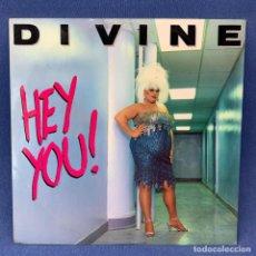 Discos de vinilo: LP DIVINE - HEY YOU! - LONDRES - AÑO 1987. Lote 210827454