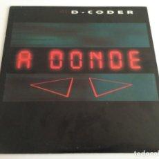 Discos de vinilo: D-CODER - A DONDE. Lote 210829737