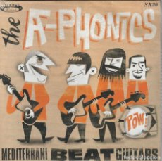 Discos de vinilo: THE A-PHONICS - MEDITERRANI BEAT GUITARS (SLEAZY, SR20 7'', EP 2010) SURF! · NUEVO. PRECINTADO.. Lote 210830089