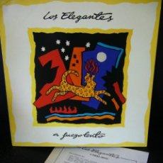 Discos de vinilo: LOS ELEGANTES A FUEGO LENTO LP 1991 CON HOJA PROMO DE DRO + INSERTO. Lote 210831964