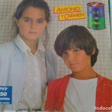 Discos de vinilo: ANTONIO Y CARMEN - SOPA DE AMOR (WEA, 1982). Lote 210834594