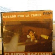Discos de vinilo: CLAUDIO BAGLIONI,SÁBADO POR LA TARDE. Lote 210836281