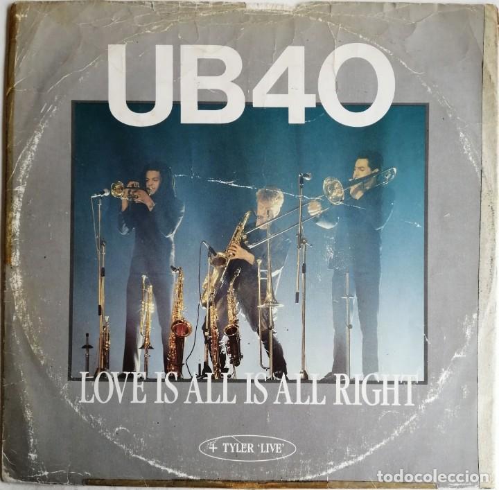UB40 ?– LOVE IS ALL IS ALL RIGHT, DEP INTERNATIONAL 12 DEP 4, 12DEP4 (Música - Discos de Vinilo - Maxi Singles - Reggae - Ska)