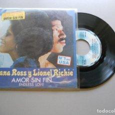 "Discos de vinilo: DIANA ROSS Y LIONEL ""RICHIE""* – AMOR SIN FIN = ENDLESS LOVE - SINGLE 1981 NM/EX. Lote 210841091"