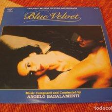 Discos de vinilo: BLUE VELVET TERCIOPELO AZUL BSO LP DAVID LYNCH ANGELO BADALAMENTI ESPAÑA 1988. Lote 210843044