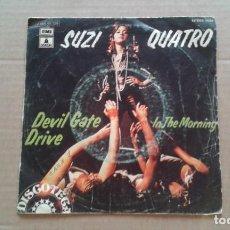Discos de vinilo: SUZI QUATRO - DEVIL GATE DRIVE SINGLE 1974 EDICION ESPAÑOLA. Lote 210844924