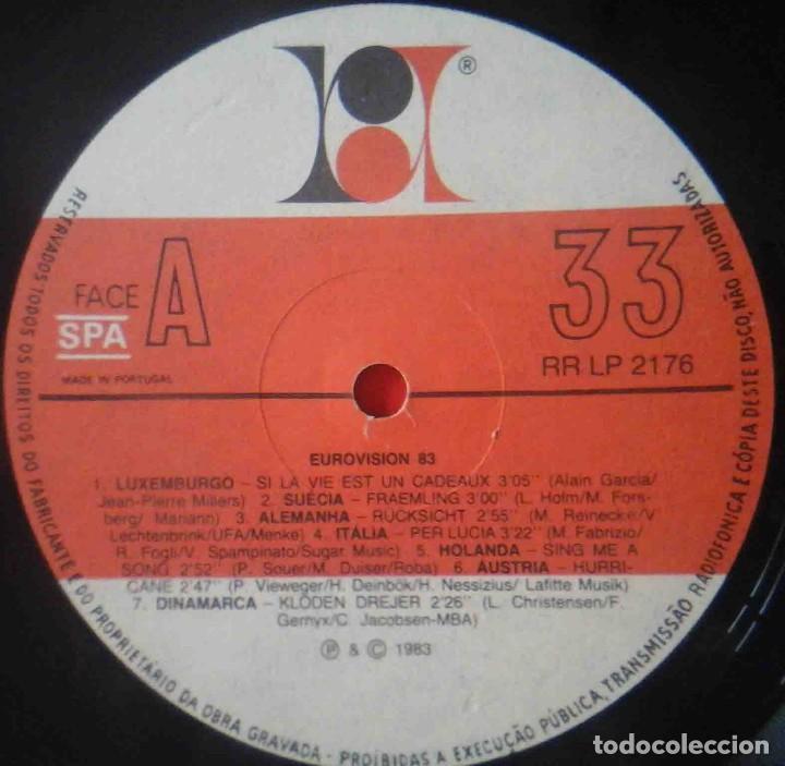 Discos de vinilo: LP Eurovision 1983 (Luxemburgho, Israel, Suecia...) - Foto 5 - 210933485