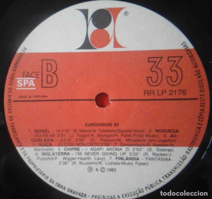 Discos de vinilo: LP Eurovision 1983 (Luxemburgho, Israel, Suecia...) - Foto 6 - 210933485