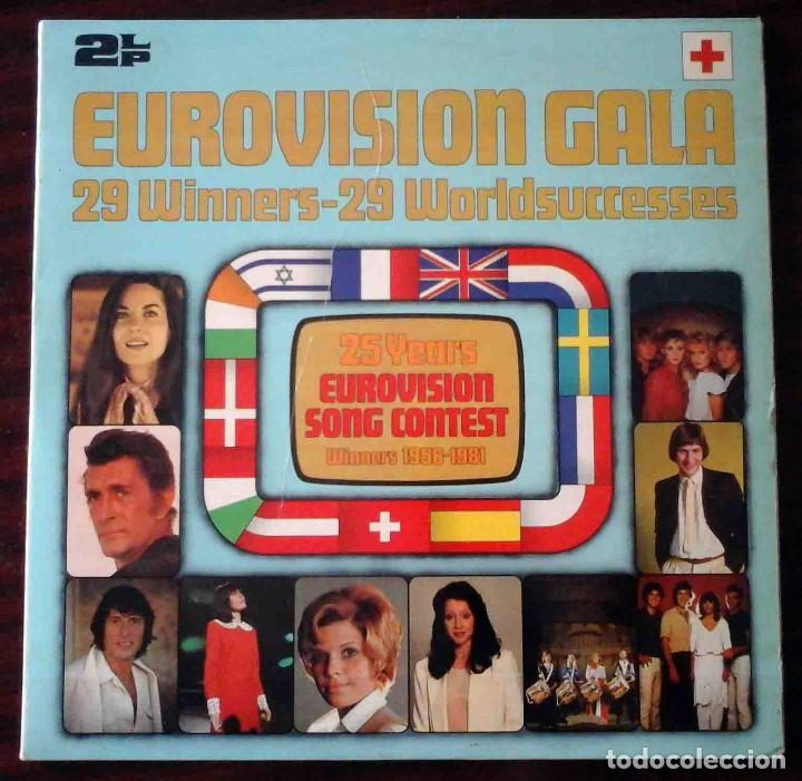 2 LP EUROVISIONN GALA - 25 AÑOS DE EUROVISIÓN - WINNERS 1956 - 1981 (Música - Discos - LP Vinilo - Festival de Eurovisión)