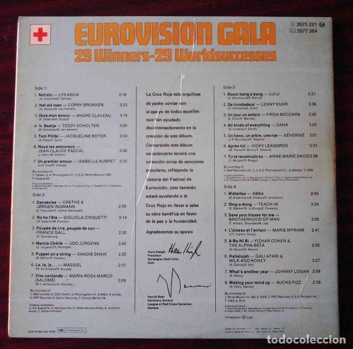 Discos de vinilo: 2 LP Eurovisionn Gala - 25 años de Eurovisión - Winners 1956 - 1981 - Foto 2 - 210933952
