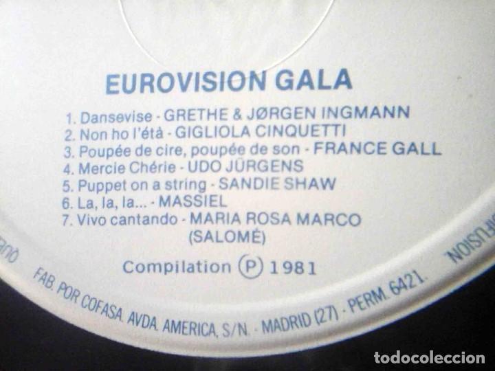 Discos de vinilo: 2 LP Eurovisionn Gala - 25 años de Eurovisión - Winners 1956 - 1981 - Foto 8 - 210933952
