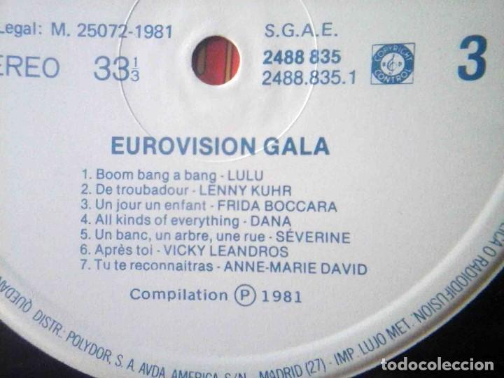 Discos de vinilo: 2 LP Eurovisionn Gala - 25 años de Eurovisión - Winners 1956 - 1981 - Foto 9 - 210933952
